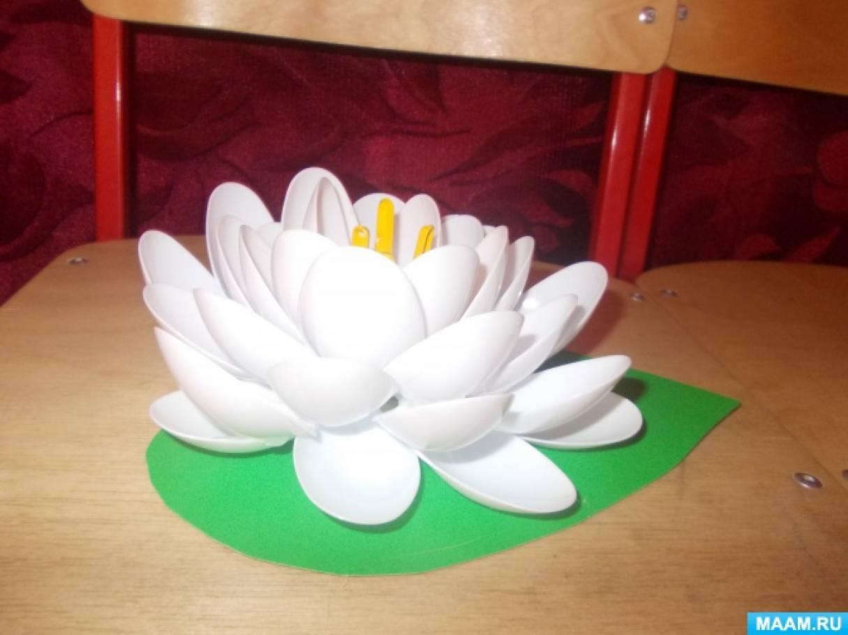 Поделки для сада из разовой посуды своими руками 48