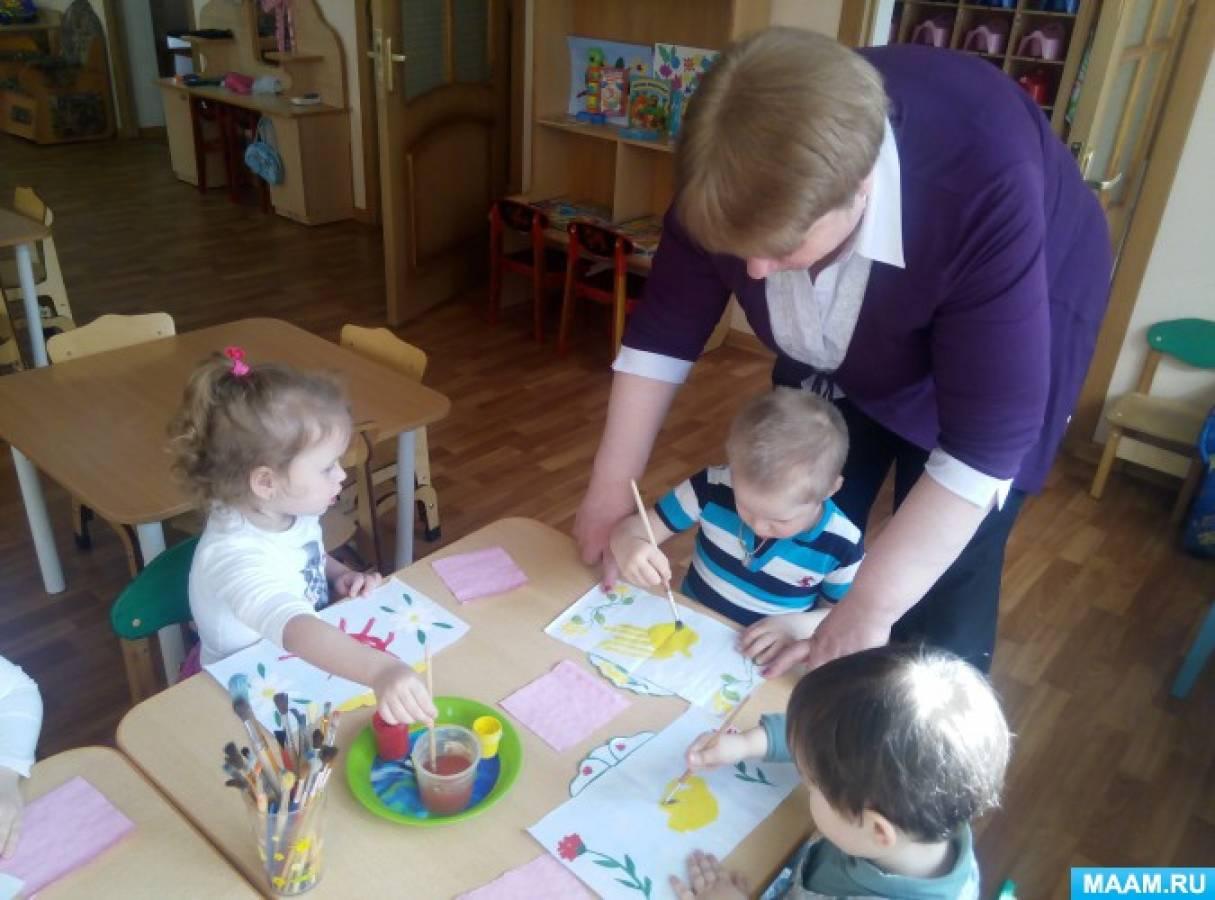 Конспект занятия в детском саду по рисованию на тему домашние животные