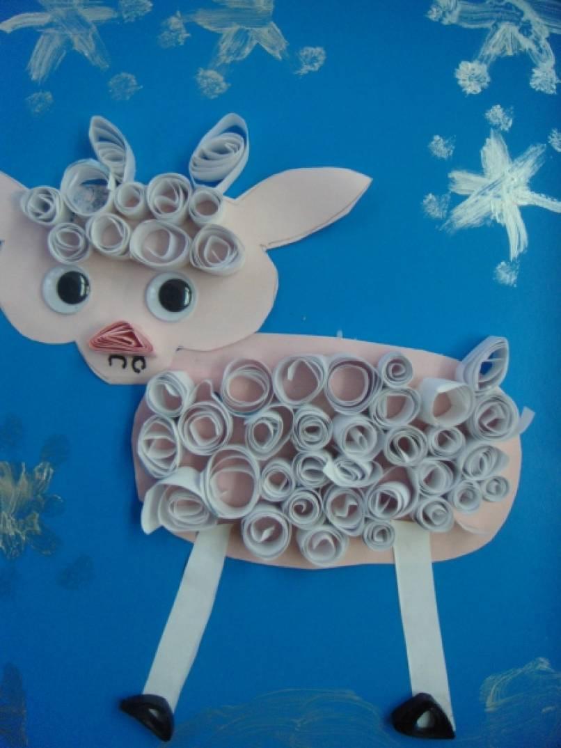 Мастер-класс «Символ года — овечка». Подарок для родителей в технике «квиллинг» (старшая группа)