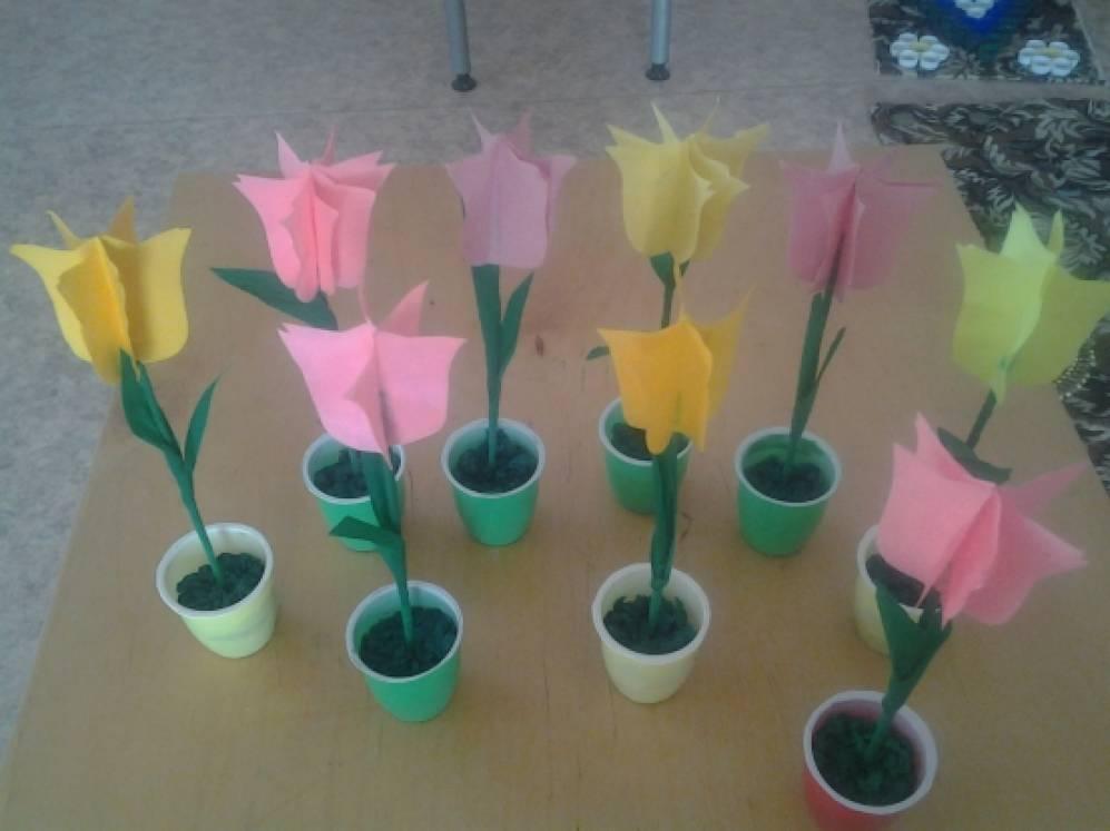 Мастер-класс для родителей «Тюльпаны» (ребристые игрушки из цветной бумаги)