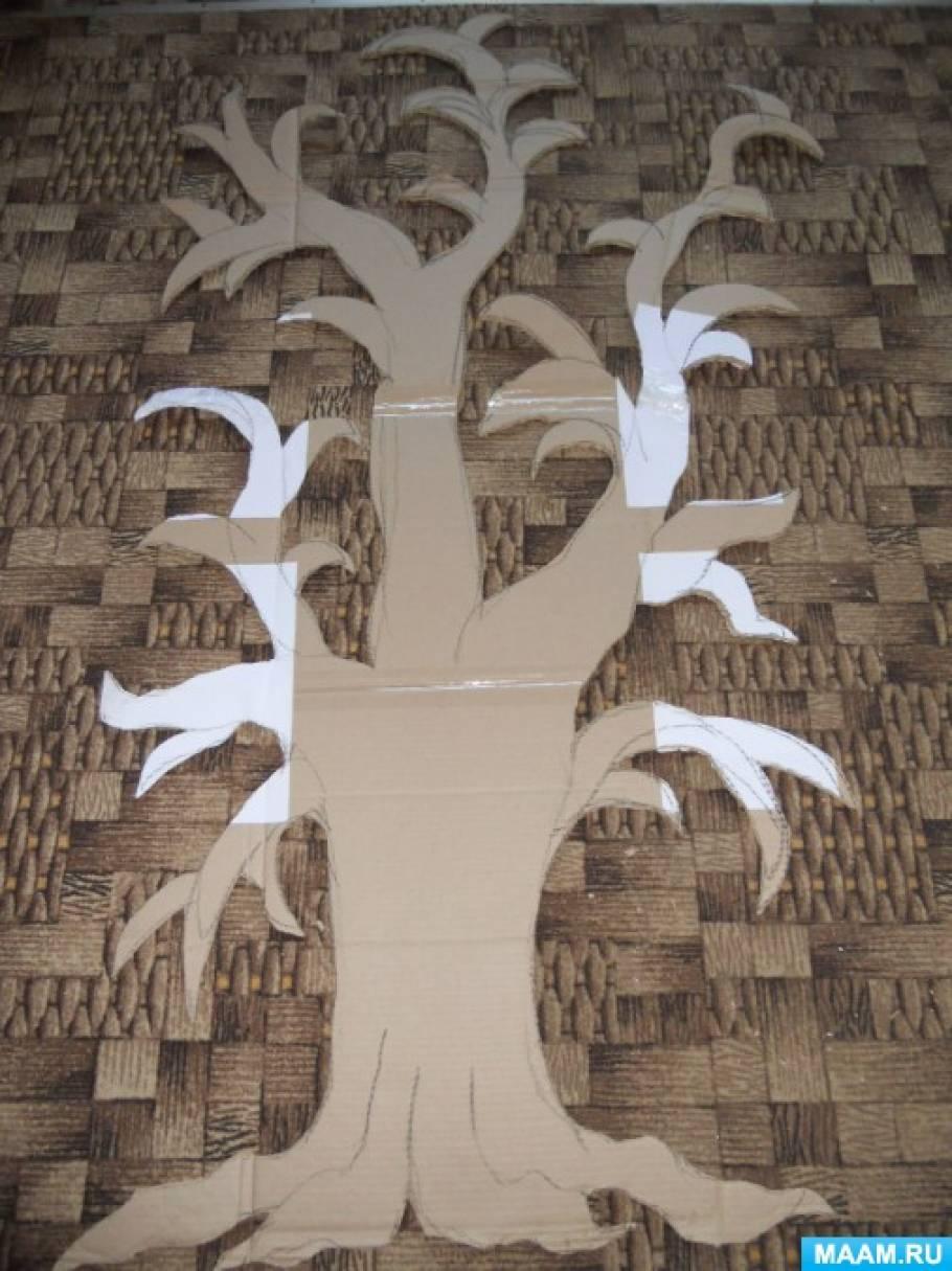 Дерево на стене из папье-маше своими руками 60