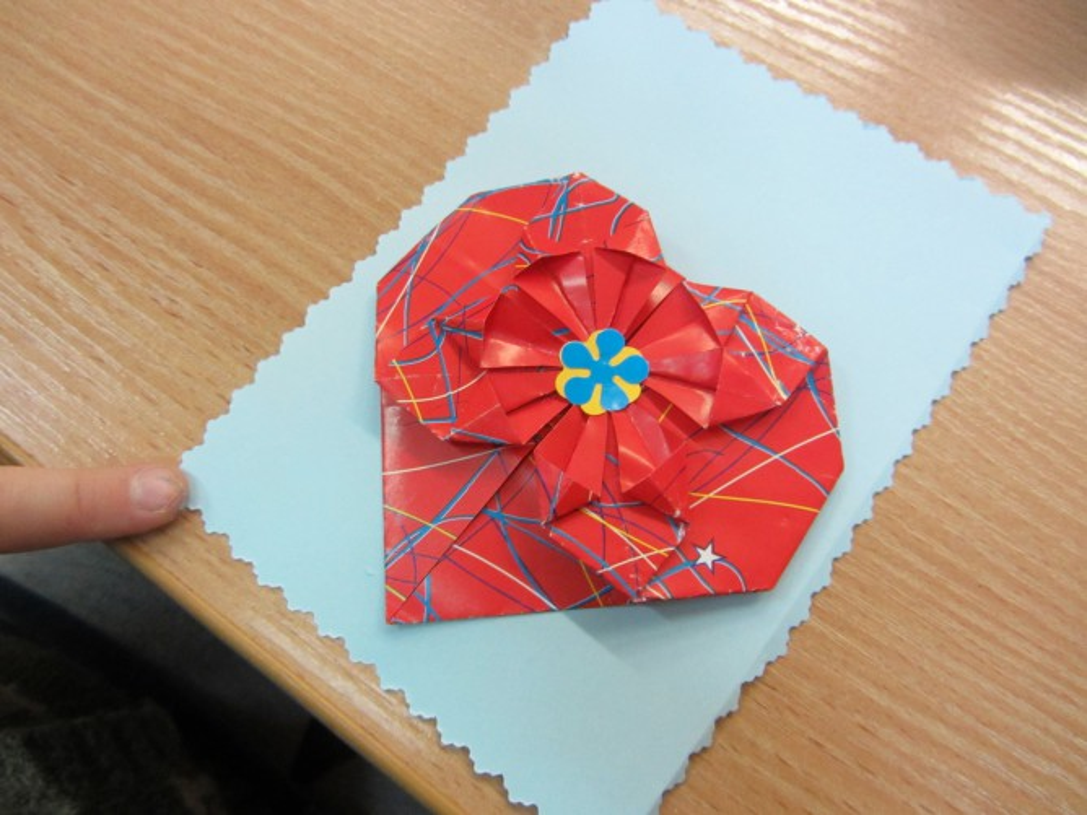 Анимация, оригами открытка маме