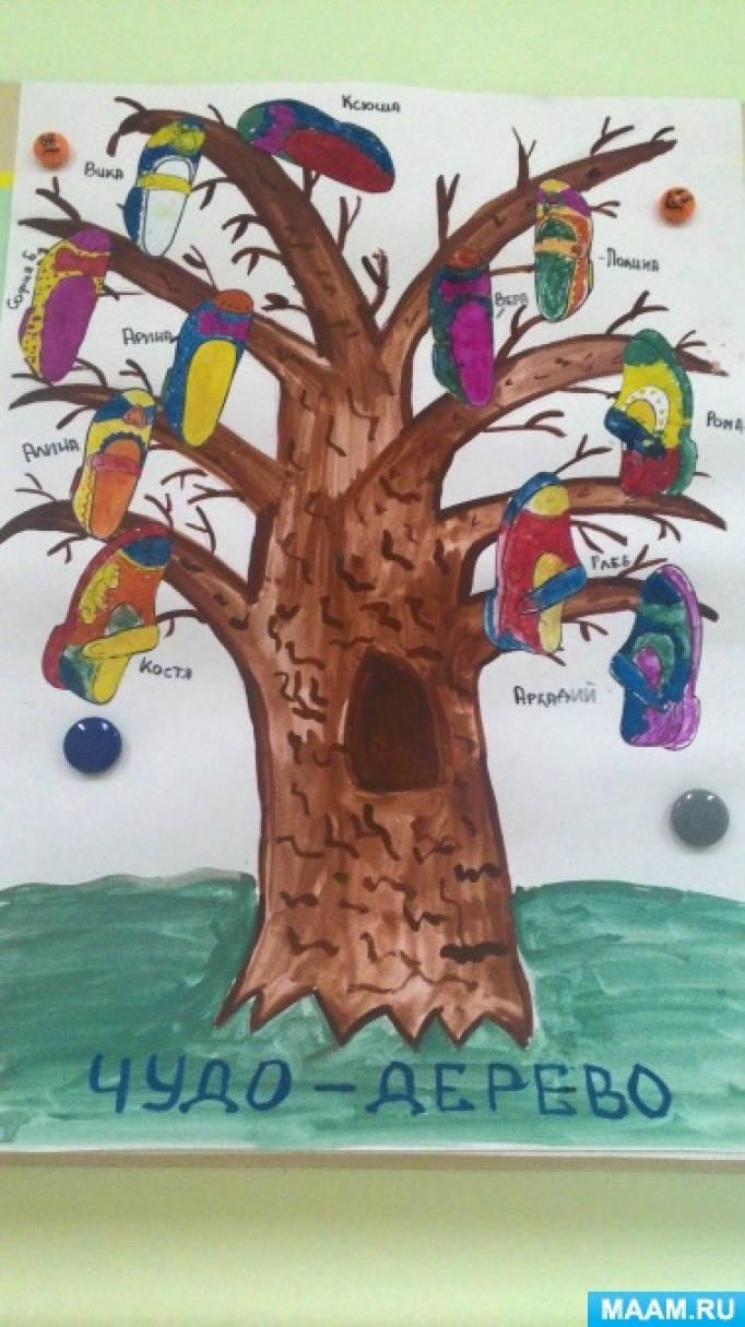 «Чудо-дерево». Рисование по мотивам сказки К. Чуковского. Формирование представлений детей об обуви
