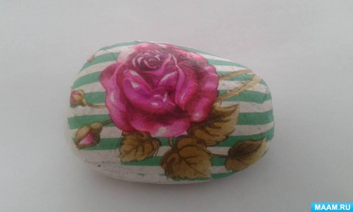 Нетрадиционная техника рисования на пене. Декупаж «Розы»