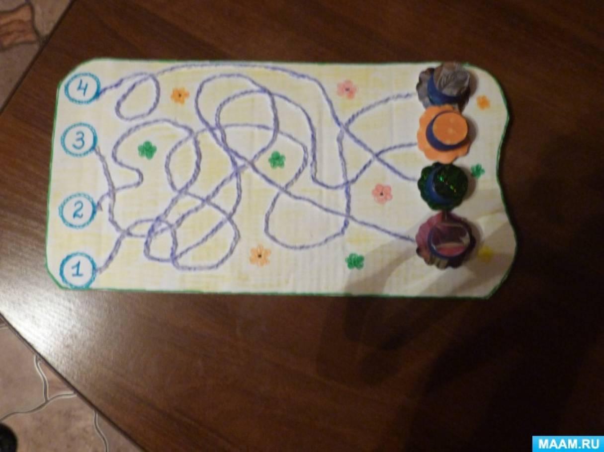 Дидактическая игра-лабиринт «Шашечки-Цветочки»