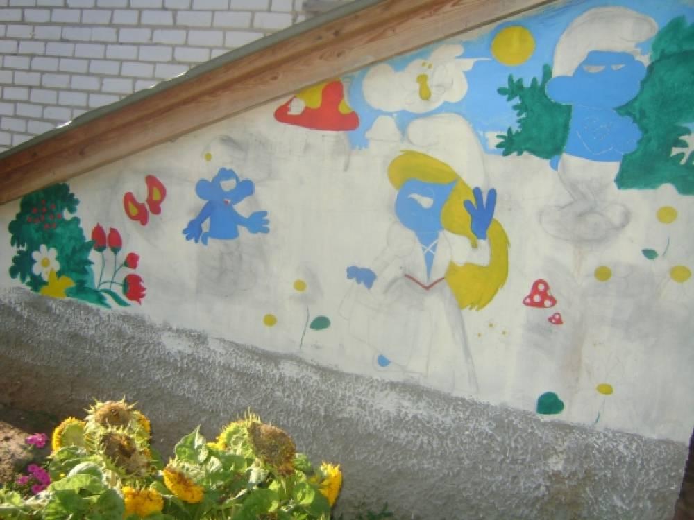Мастер-класс «Рисунок на стене»
