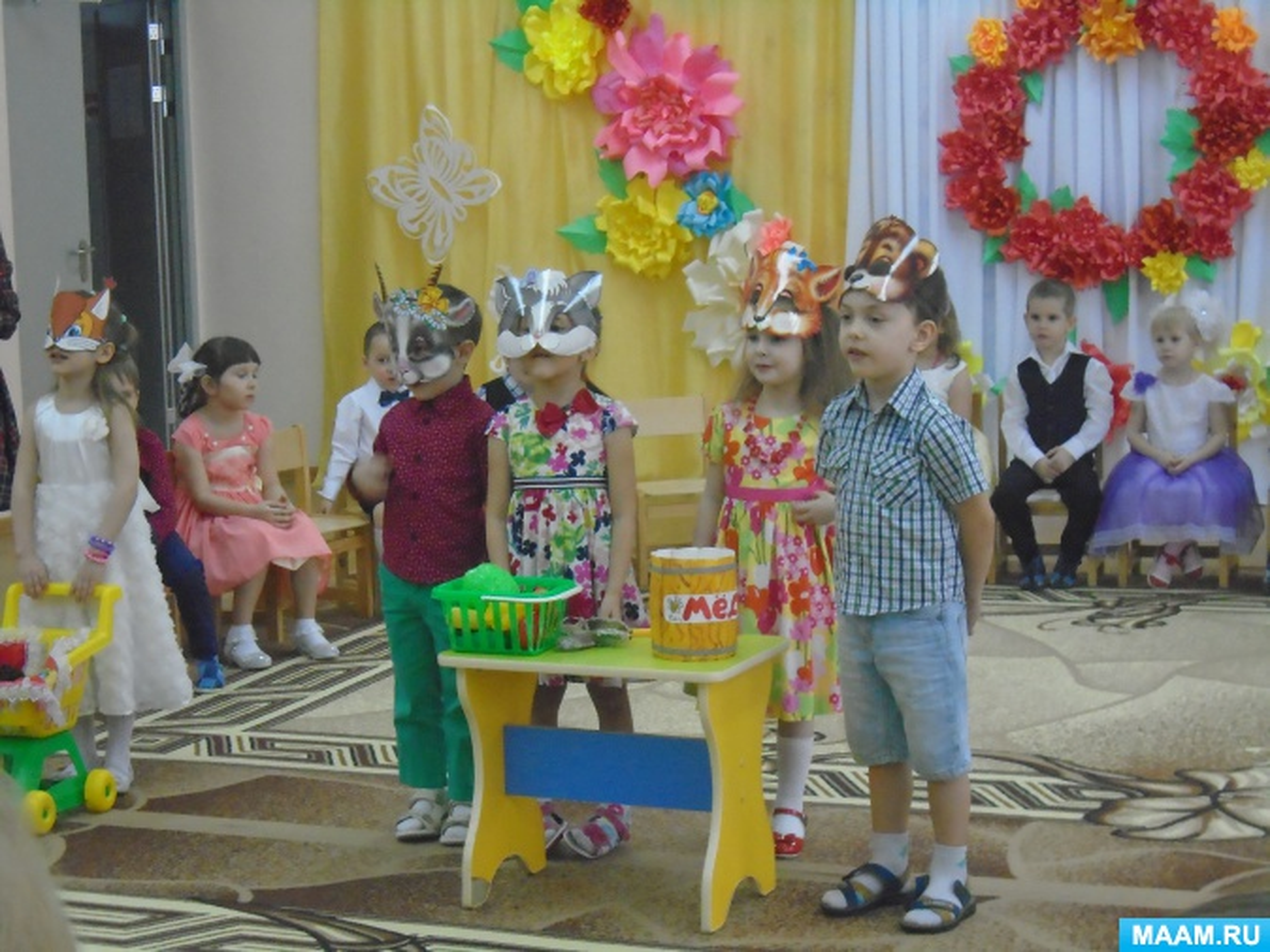 Поздравление сценка детский сад