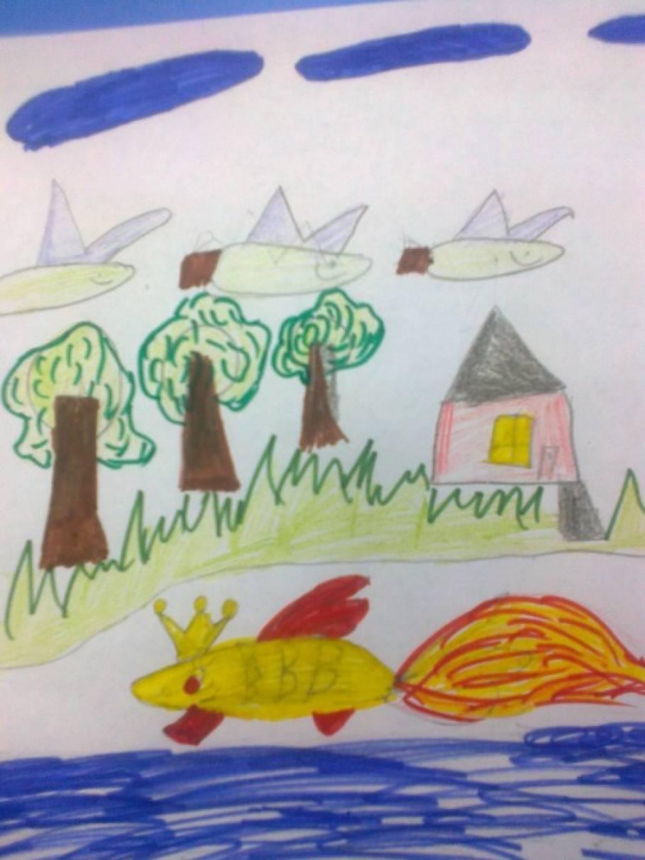 конспект урока иллюстрирование сказки о рыбаке и рыбке