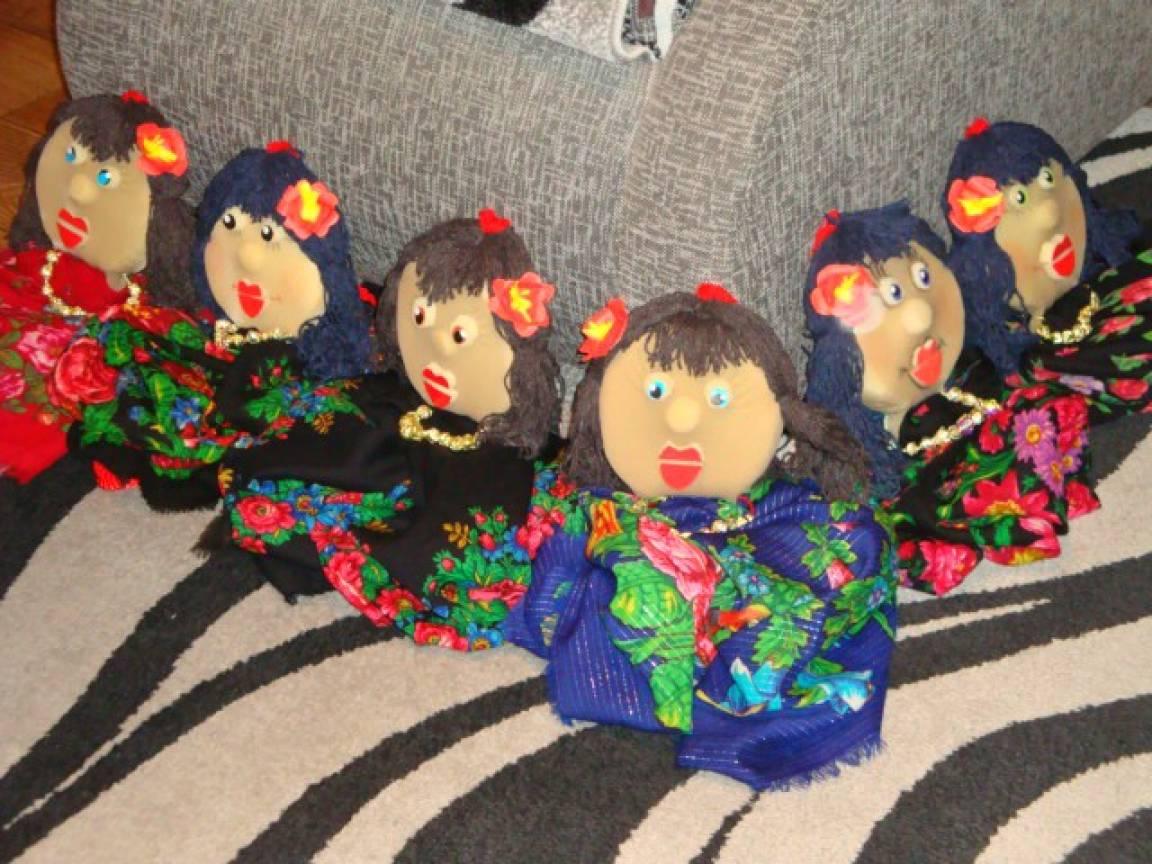 Мастер-класс. Платковые куклы для танца «Цыганочка»