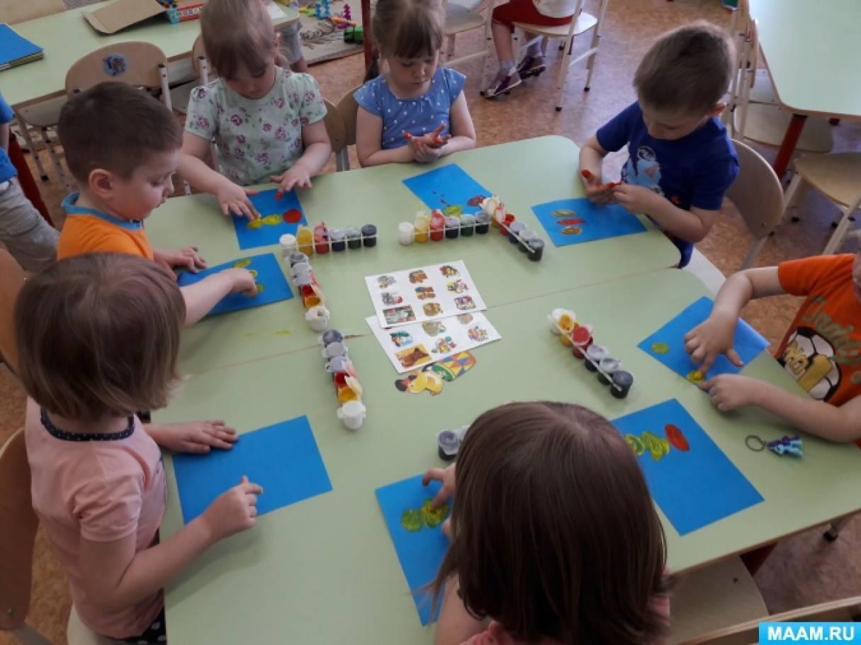Конспект НОД по пальчиковому рисованию для детей 3–4 лет «Путешествие медвежонка и его друзей на воздушных шарах»