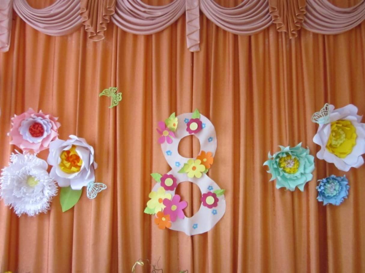 Картинки оформление муз зала на 8 марта