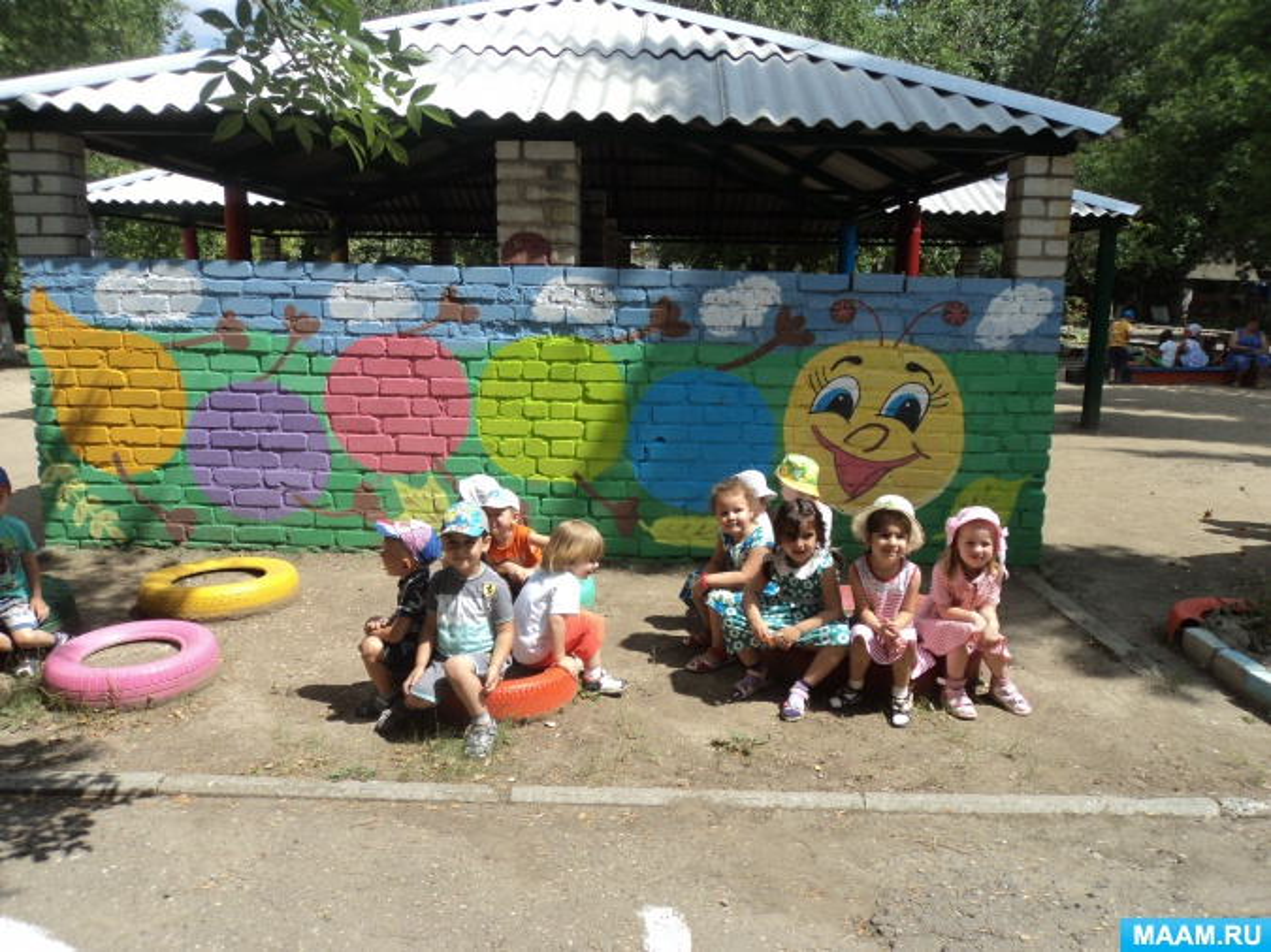 Наш участок в детском саду