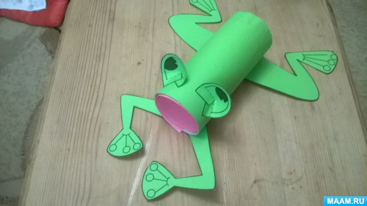 Мастер-класс Поделки из бросового материала (втулка) «Лягушка-квакушка» часть1.