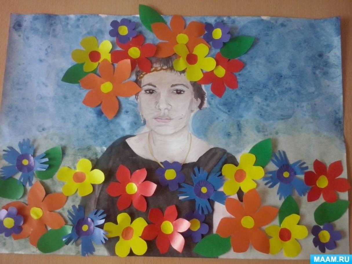 Фотоотчет с пошаговой коллективной работы «ДевушкаЛето»