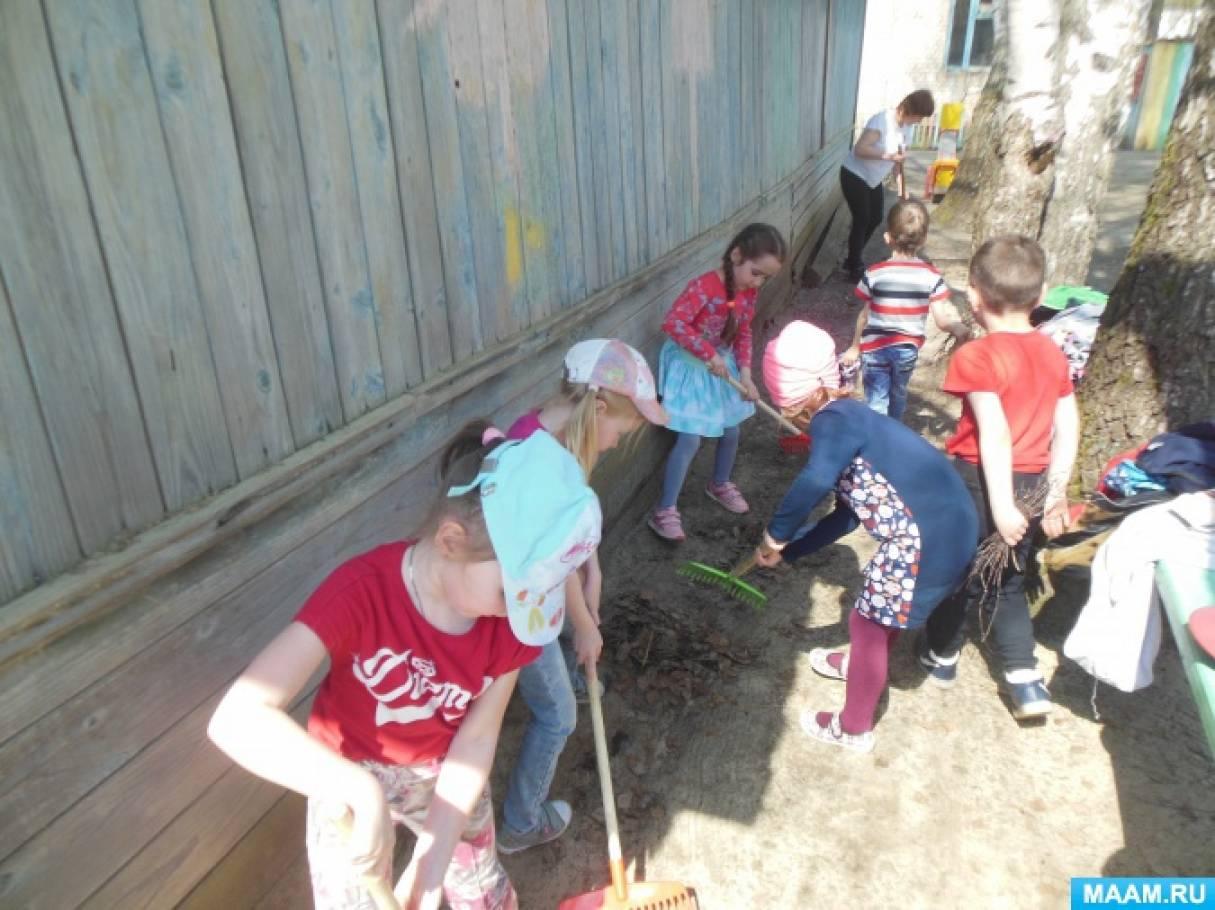 Экологический субботник «Зелёная весна» в детском саду