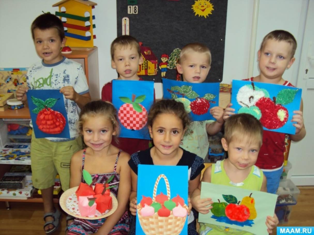 Фотоотчет о детском мастер-классе «Яблочная неделька. Поделки к Яблочному Спасу»