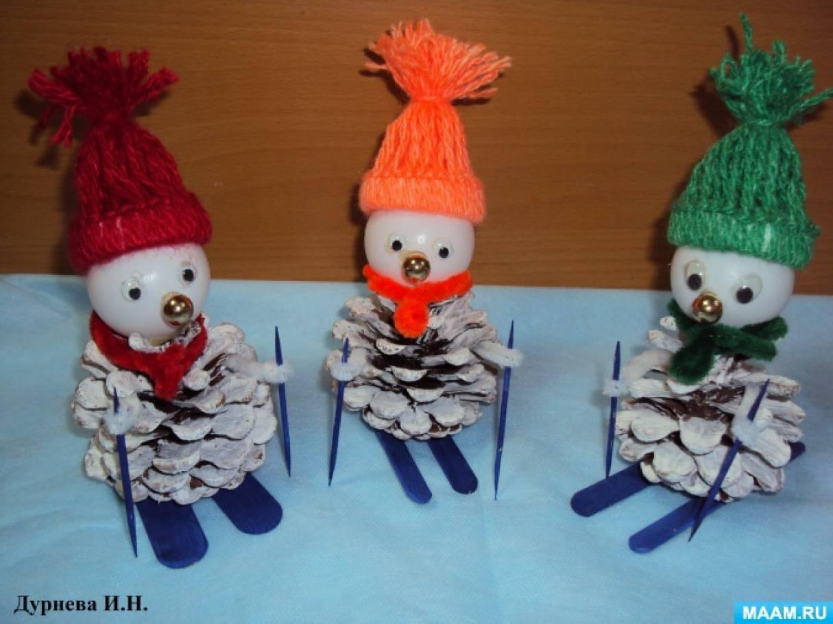 Мастер-класс «Поделка из природного и бросового материала «Веселые снеговики»