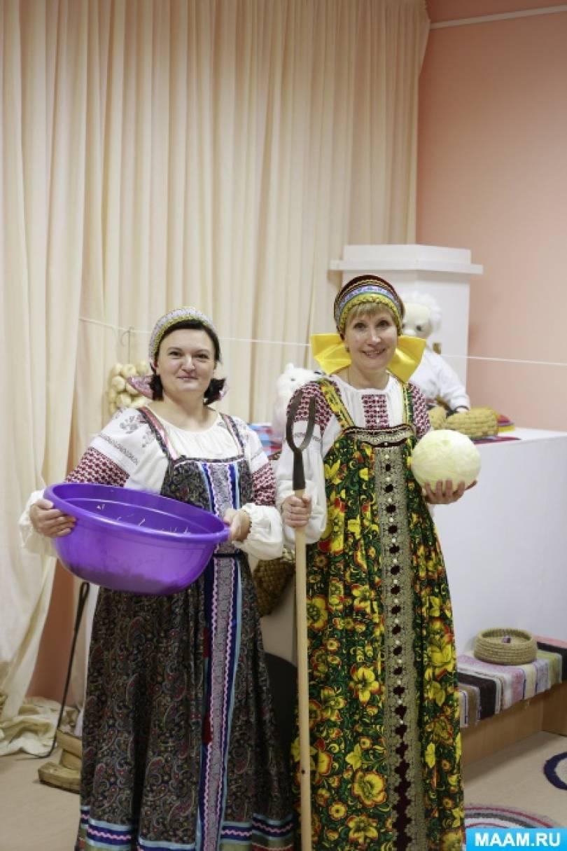Отчет о проведении праздника «Капустница» в «Русской избе».