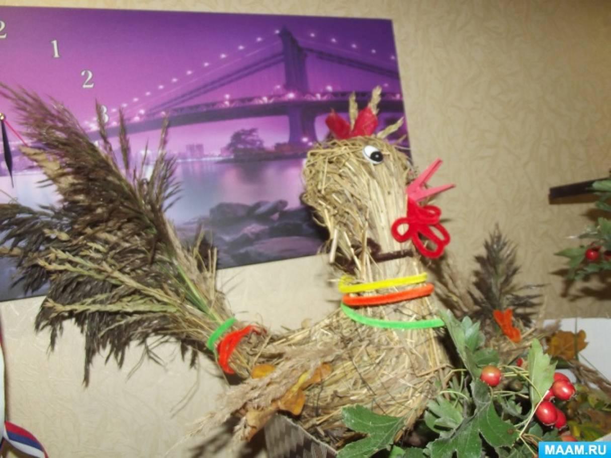 Фотоотчет поделок на конкурс «Осенние фантазии» из природных материалов.