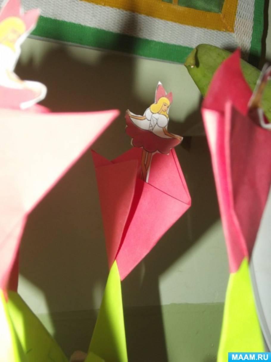 Конспект НОД по ФЭМП с продуктивной деятельностью в старшей группе «Цветок для Дюймовочки. Порядковый счёт до 10»