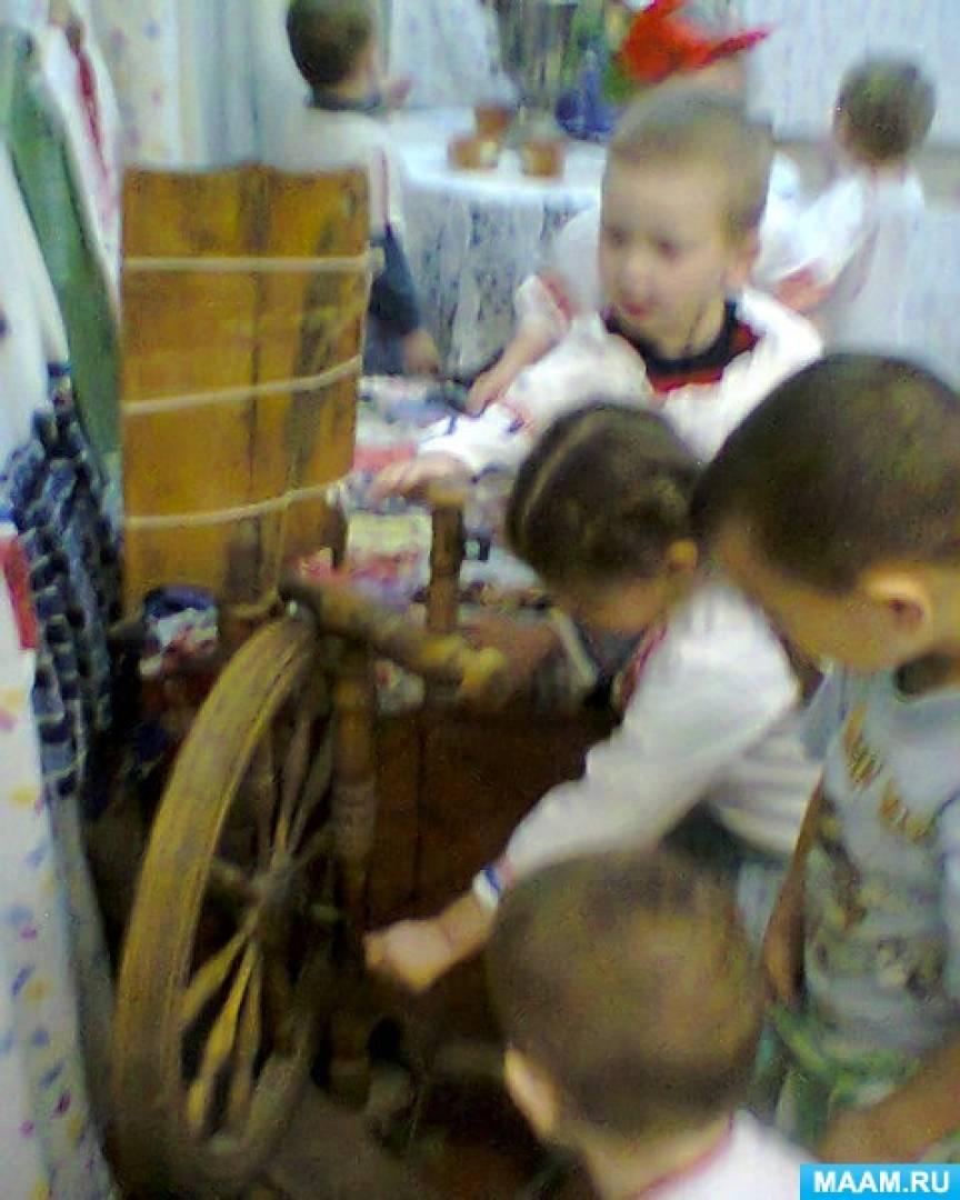 знакомство с предметами русского быта дошкольники