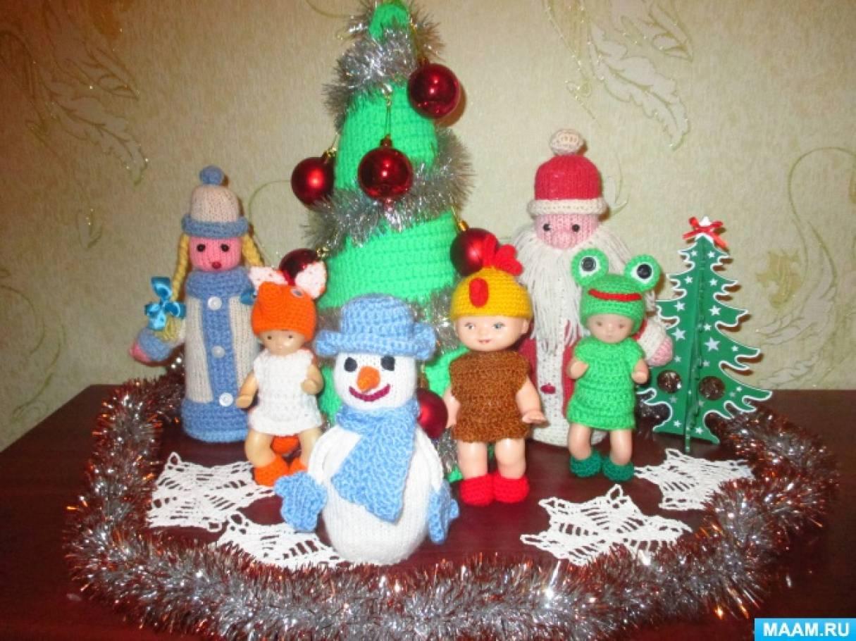 Новогодние вязаные игрушки или моё любимое хобби