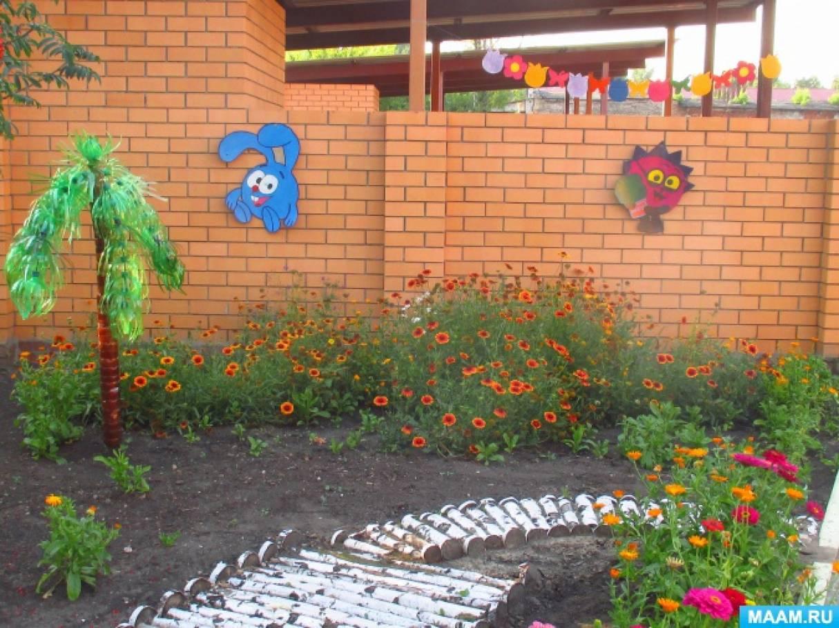 Гирлянда из картона для летнего украшения веранды в детском саду