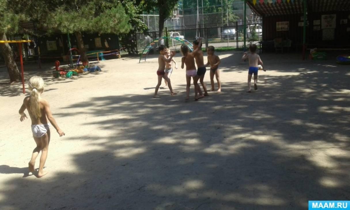 Сюжетные картинки лето в детском саду