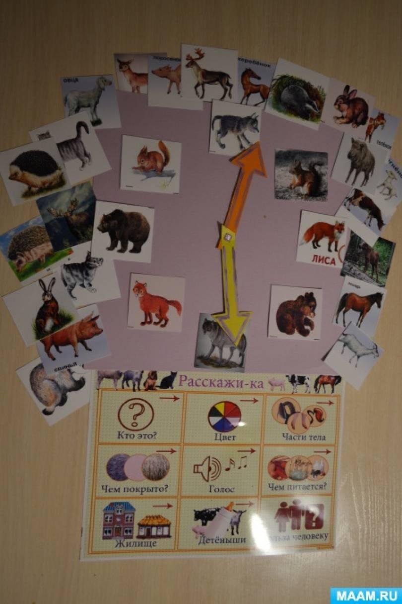 Экологическая настольная игра «Дикие, домашние животные и их детеныши»