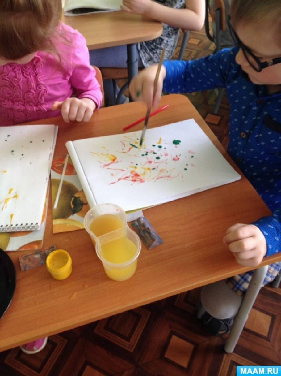 Конспект занятия по рисованию в технике кляксографии с трубочкой «Салют» (старшая группа)