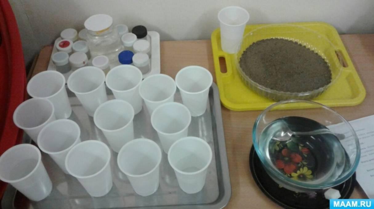 Непосредственно образовательная деятельность по знакомству со свойствами воды в младшей группе «Капелька»