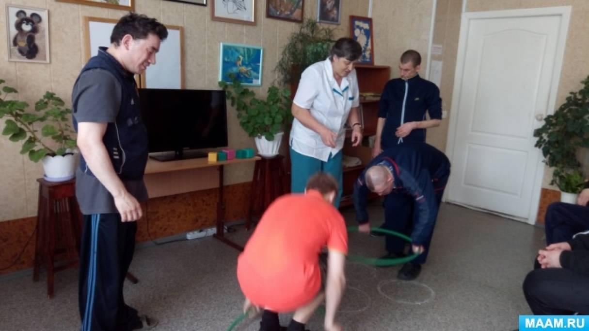 Фотоотчет о воспитанниках психоневрологического интерната «День космонавтики»