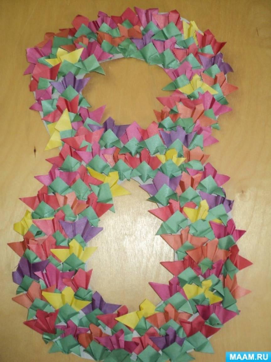 Детский мастер-класс «Цветы в технике оригами»