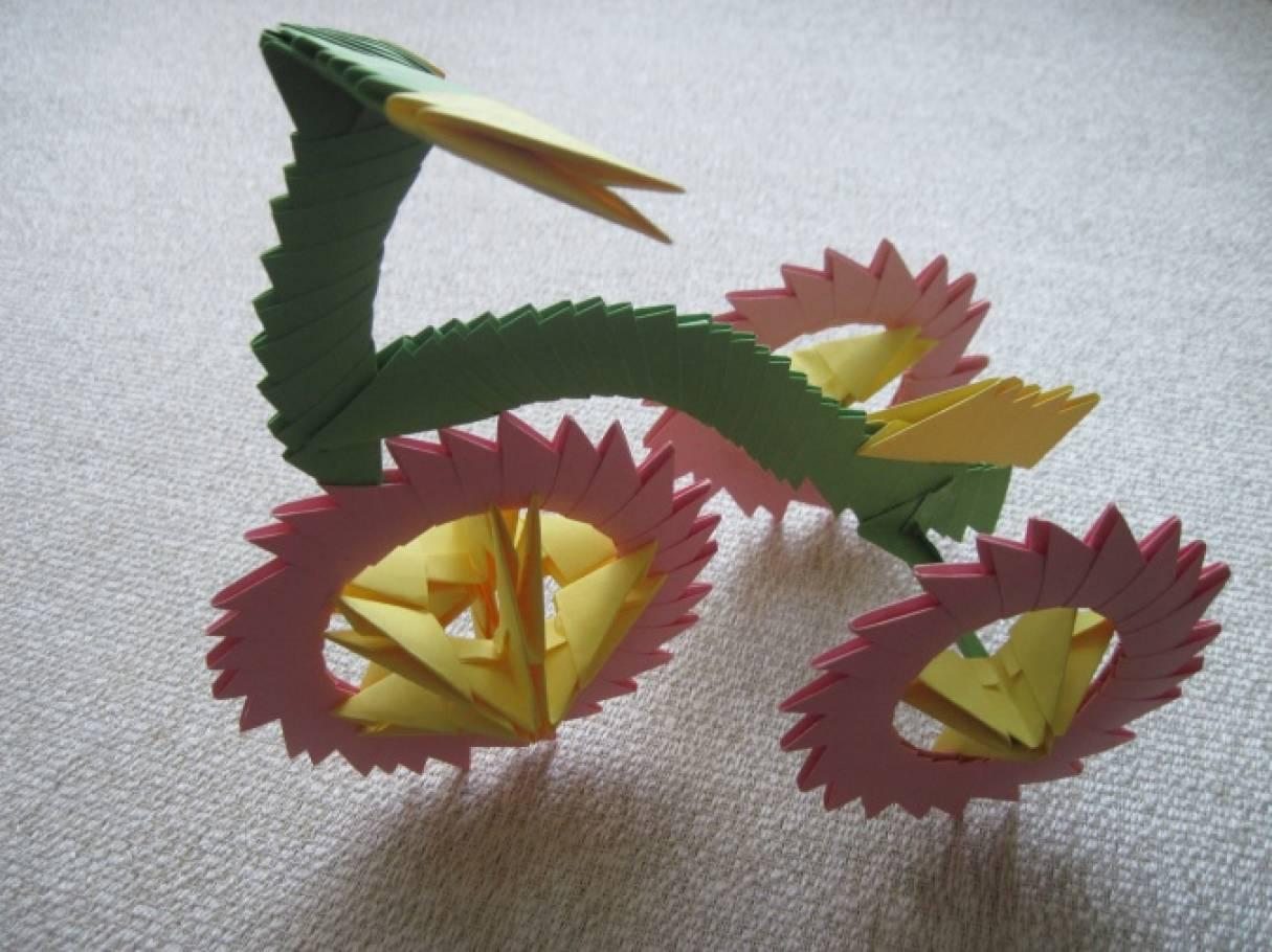 Велосипед в технике модульного оригами. Мастер-класс.