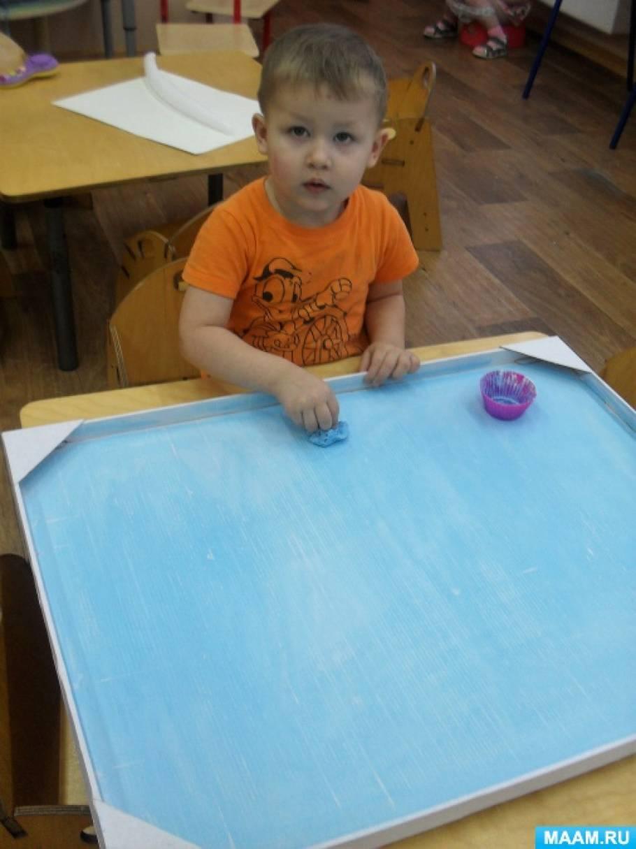 Коллективное рисование в группе раннего возраста «Снегири на дереве»