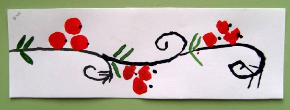 Рисование в средней группе по хохломской росписи