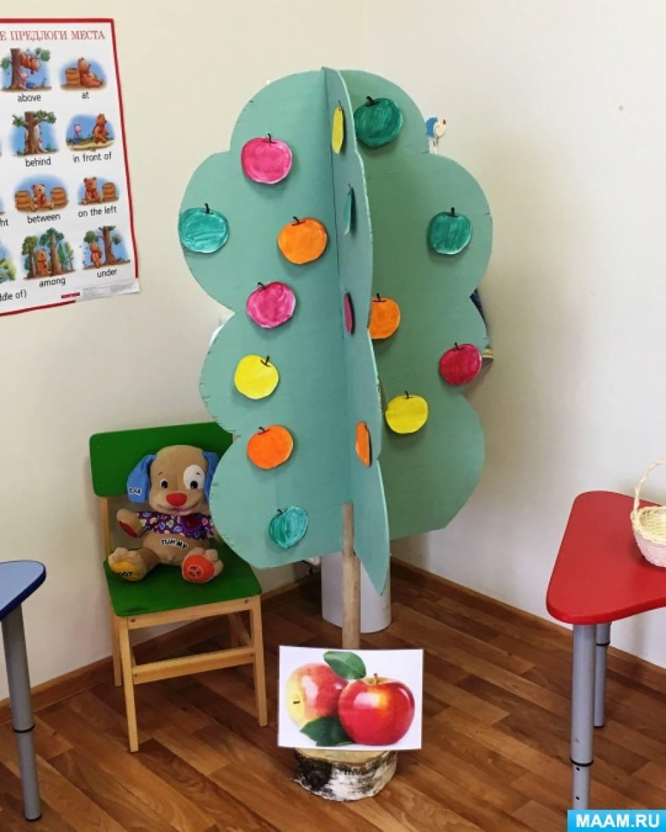 План-конспект образовательной деятельности по английскому языку в подготовительной группе «День яблока. Праздники страны…»