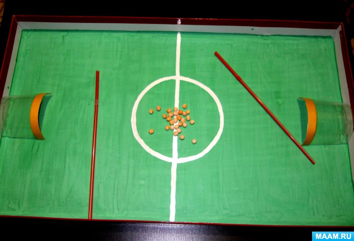 Мастер-класс по изготовлению игры «Футбол» для развития дыхательных функций у детей