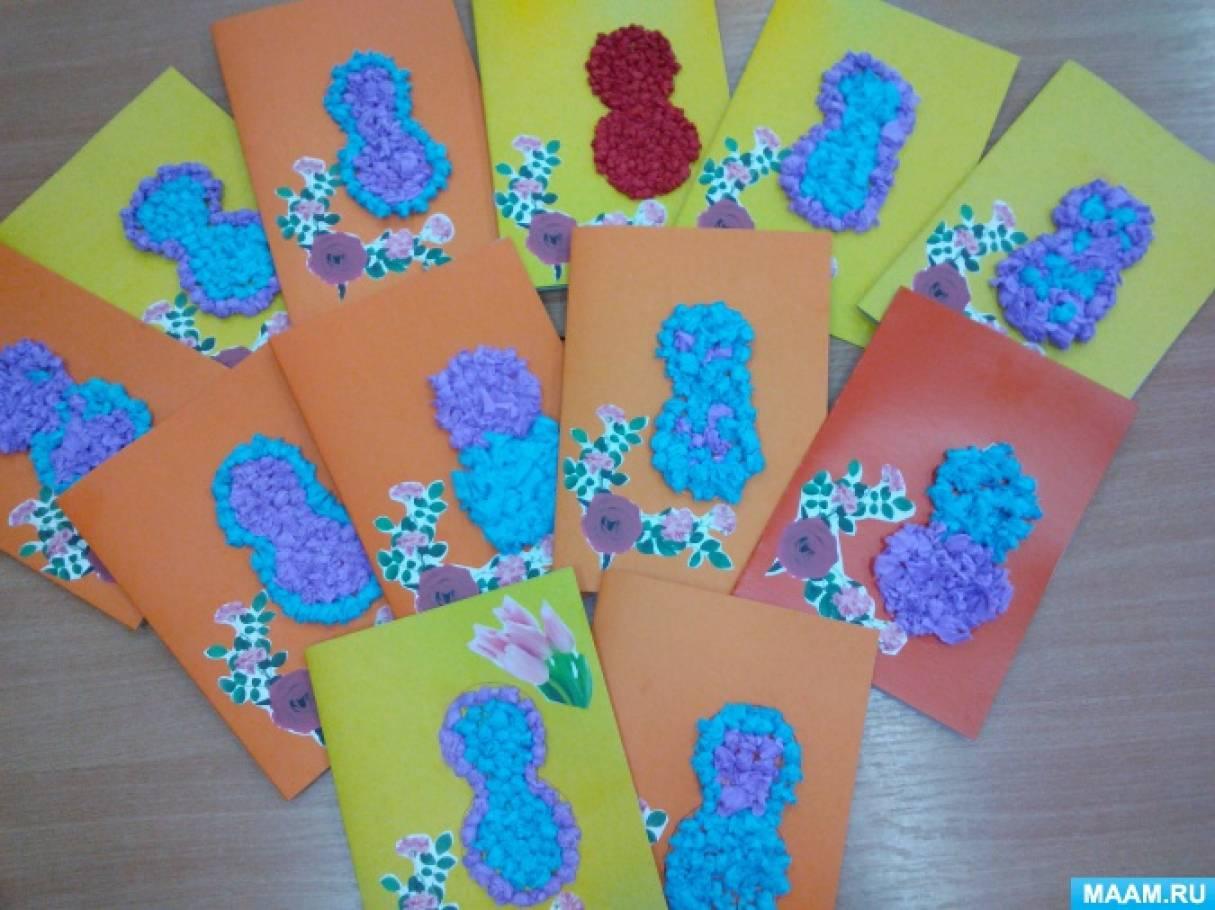 описание поздравительные открытки мамам на 8 марта в старшей группе говорила
