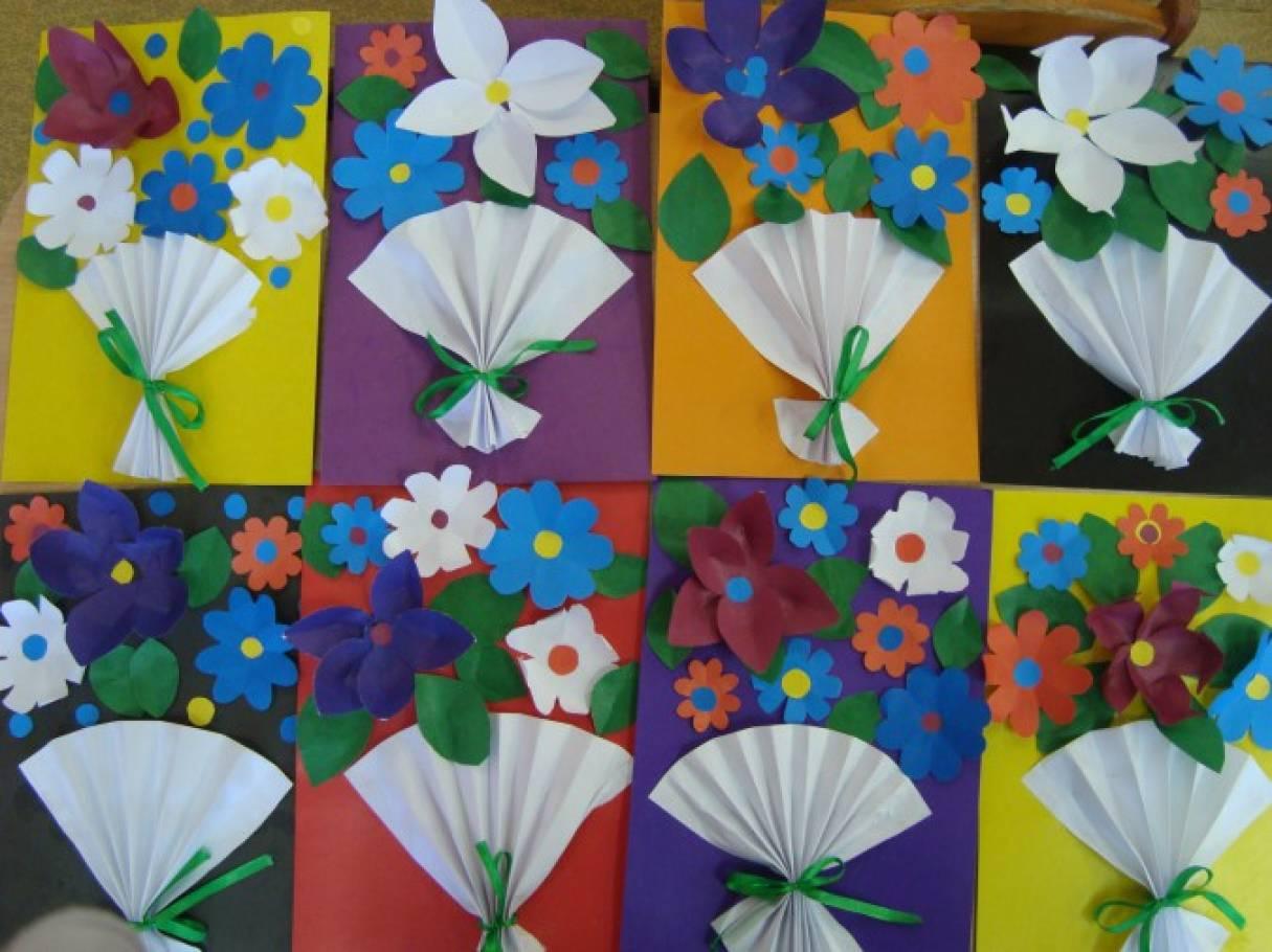 Цветочная фантазия поделки из бумаги 27
