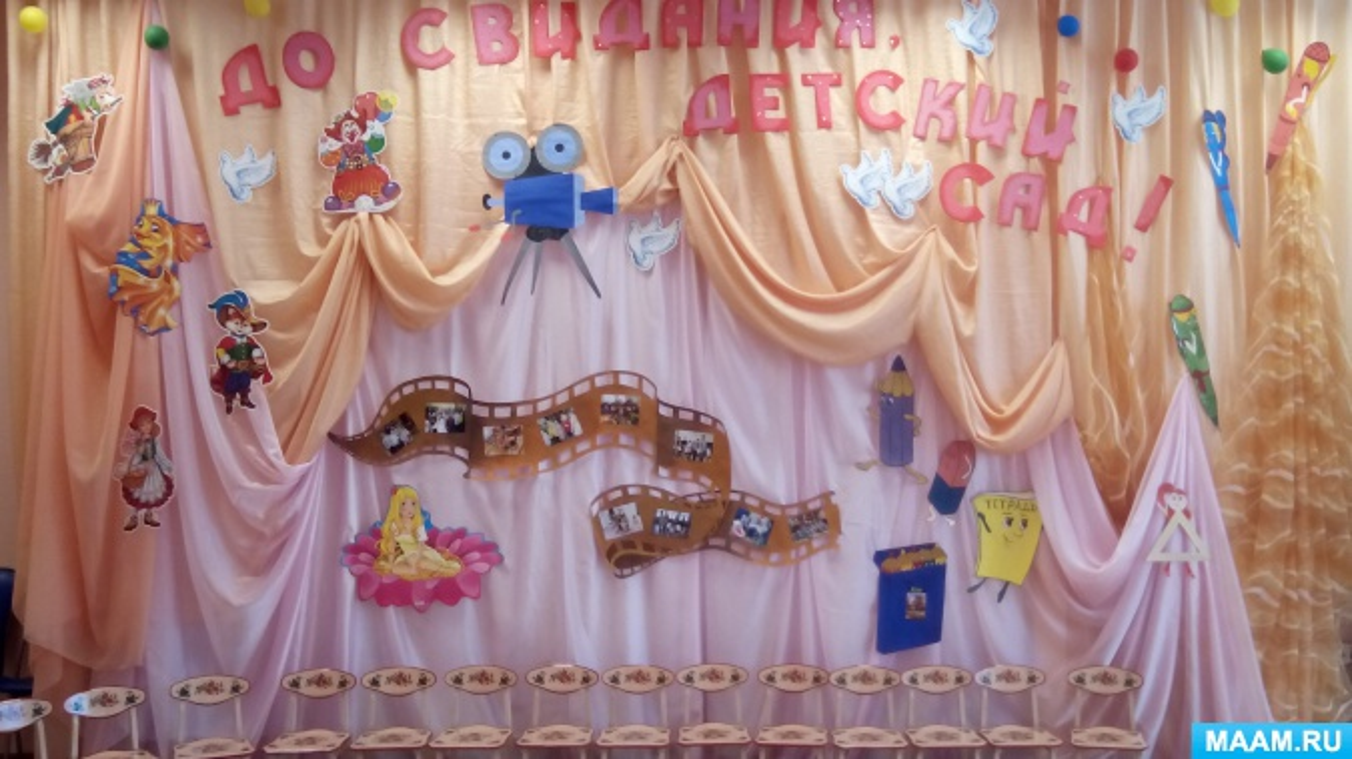 Оформление зала к выпускному «Кинолента»