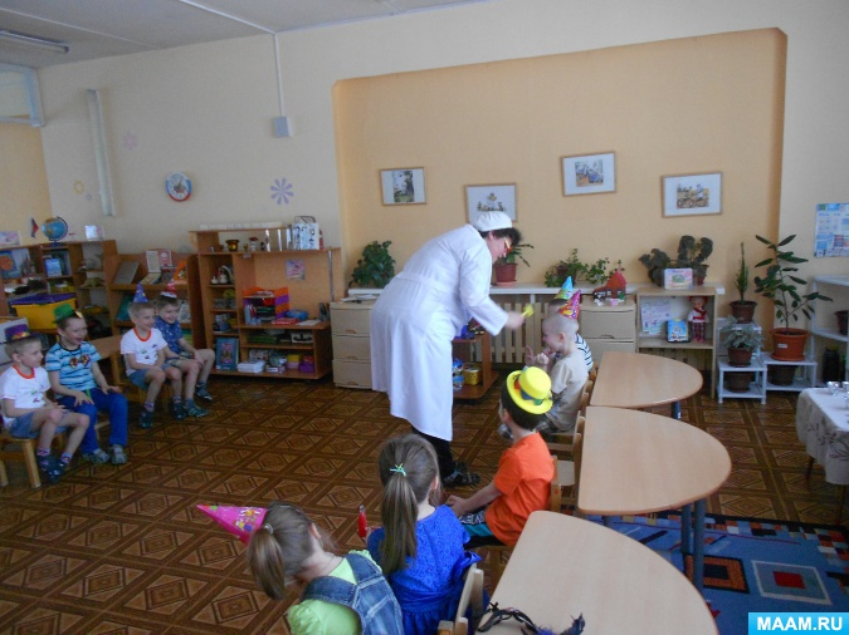 Конспект развлечения «Доктор Айболит лечит детей смехом»