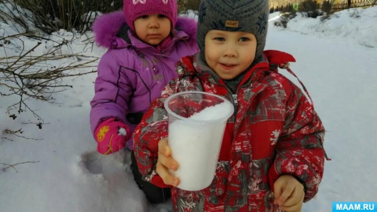 Проект во второй младшей группе «Снег, лед, вода»