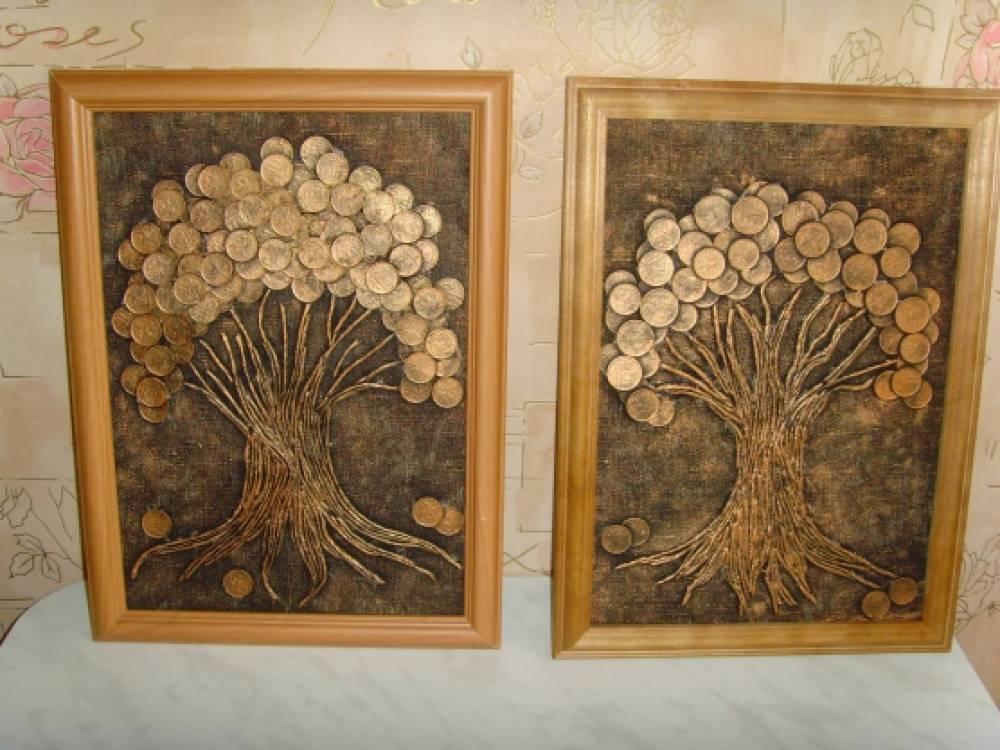 Деревья из кофейных зерен своих руками