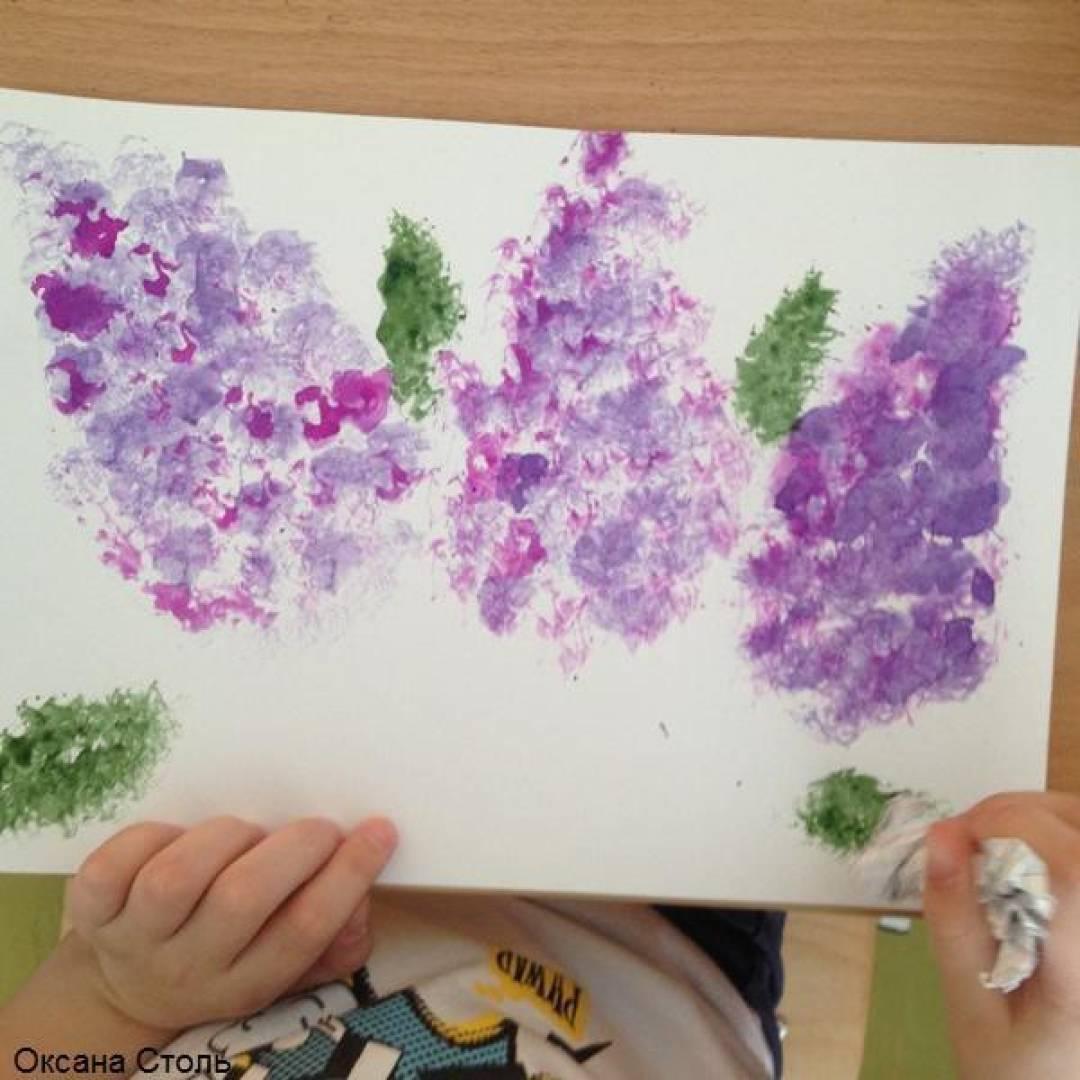 знакомство детей с фиолетовым цветом