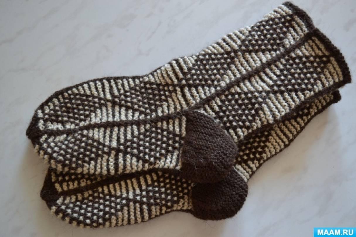 Вяжем носки с узорами. Мастер-класс