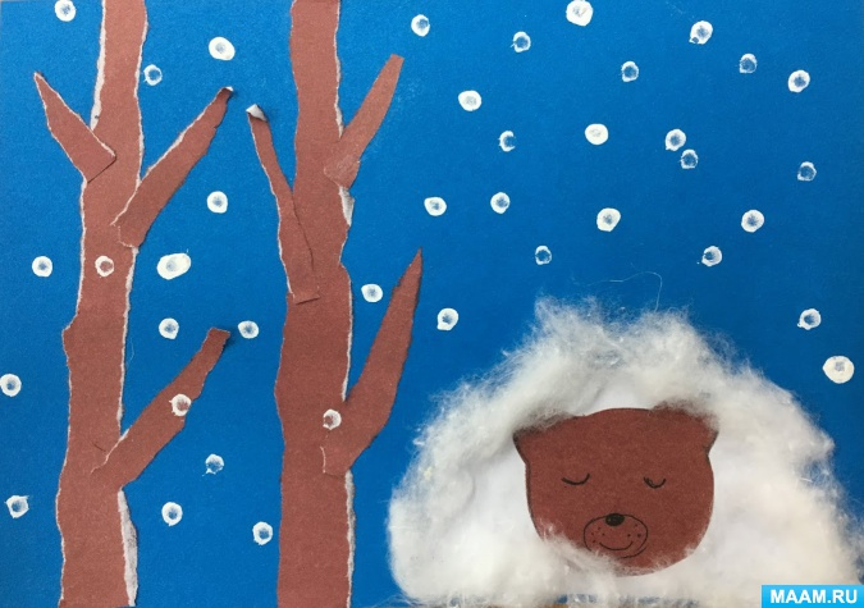 Детский мастер-класс «Медведь в берлоге»