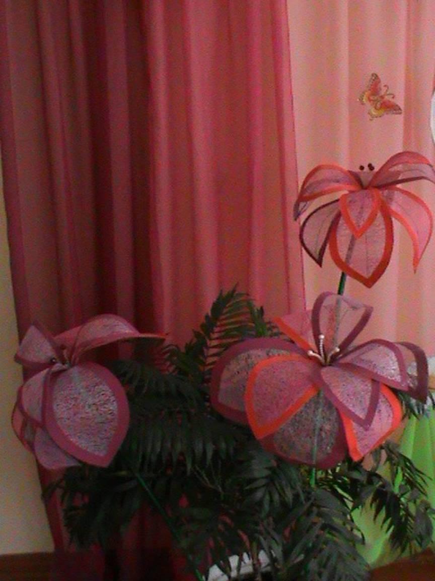 Мастер-класс «Цветы для оформления зала»
