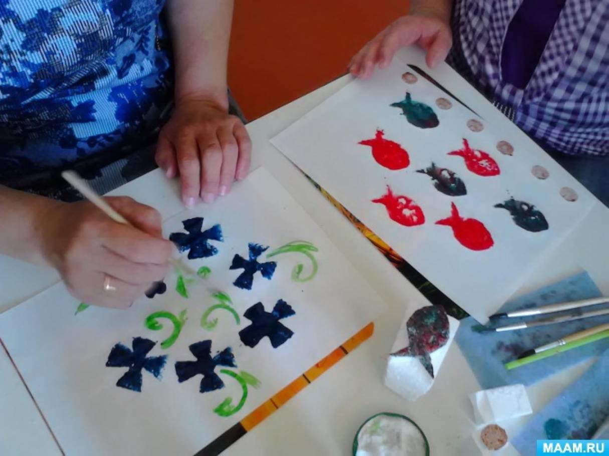 техника рисования на ногтях