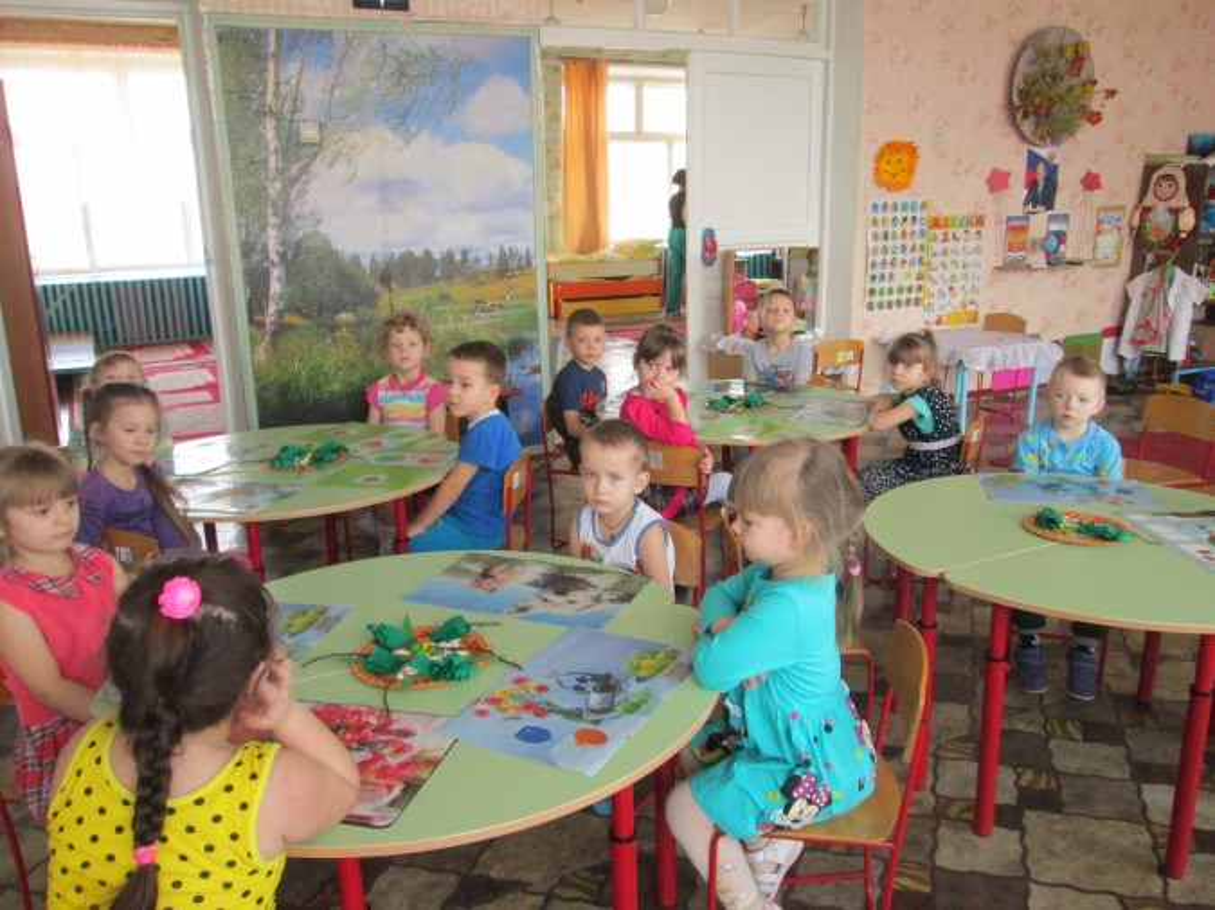 Мастер-класс для детей старшей группы «Подснежники в корзине» из природного материала, пластилина, цветной бумаги»